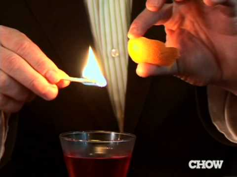 How to Flame a Citrus Peel - CHOW Tip