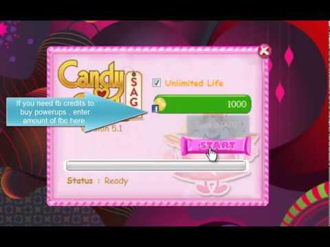 Candy Crush Saga Life and Facebook Credits Cheat 2013