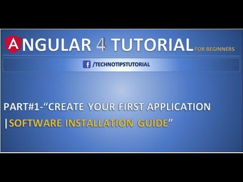 Angular 4 Tutorial - 1 - Nodejs and angular CLI Installation in Angular 4/ Angular 5
