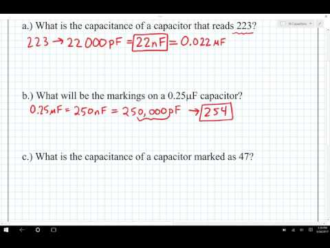 ECE 100 Reading Capacitor Values Example