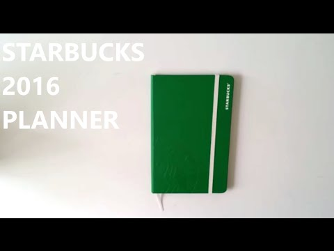 Starbucks 2016 Planner | Review/Overview/Unboxing