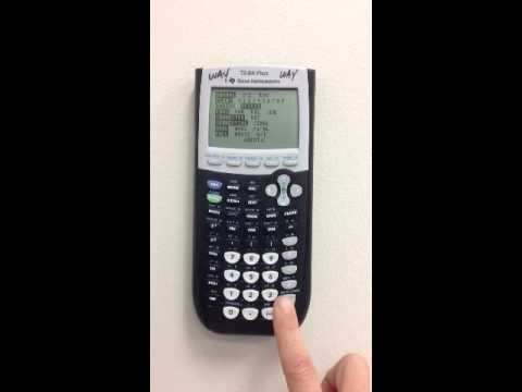 How to get your TI 83/84 calculator in DEGREE mode.  VCS