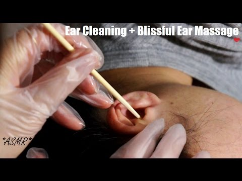 ASMR Relaxing Ear Cleaning REAL PERSON NO TALKING + BLISSFUL Ear Massage (THE ULTIMATE COMFORT) !!