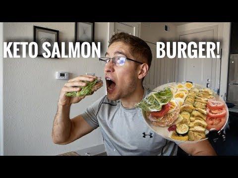 KETO SALMON BURGER PATTY!