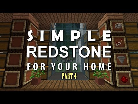 Minecraft: Redstone For Your Home #4 - Button Activated Nether Portal, Item Display