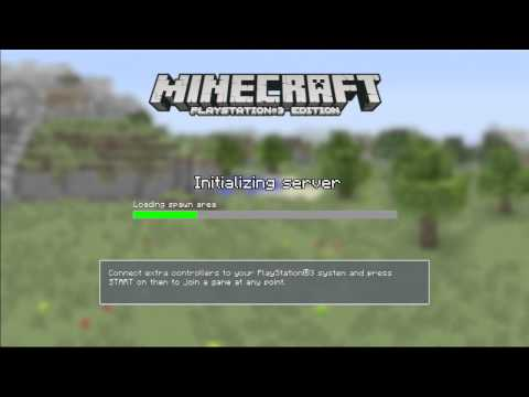 Minecraft Playstation 3 Edition - How to Play Splitscreen