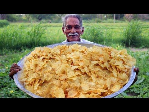 Potato Wafers | Crispy Potato Chips | Quick and Easy Aloo Chips Recipe | Grandpa Kitchen