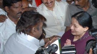 Amma Jayalalitha & captain Vijayakanth quarrel in TN Assembly!!