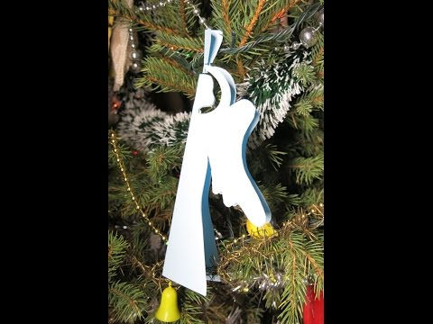 DIY Paper Ornament Angel. Easy Crafts for Christmas.