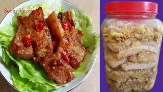 របៀបធ្វើ ផ្អកសាច់ជ្រូកបីជាន់ Rice Roasted Pork | Khmer cuisine  [ ម្ហូបខ្មែរ ][Soem Vansin]