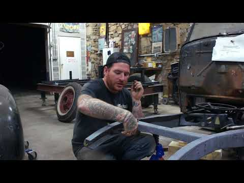 How to C-Notch Front Suspension Ford Model A- Sweet Heart Roadster Ep.25