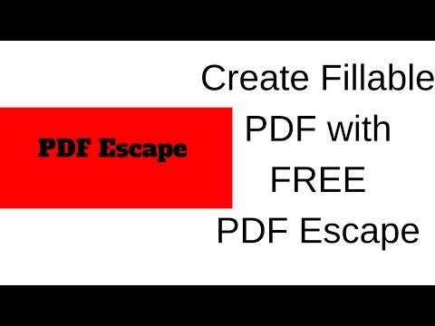 How To A Create Fillable PDF With PDF Escape