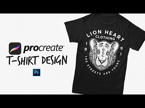 Turning My Procreate Sketch Into A T-Shirt Design