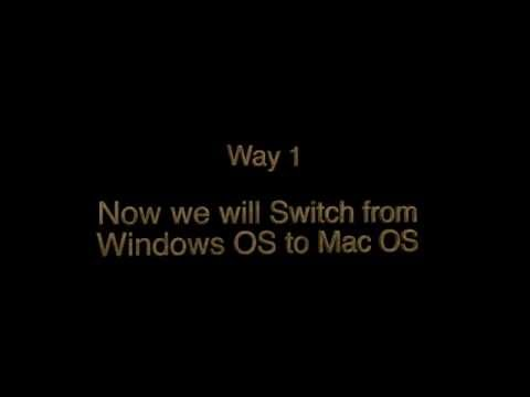 How to Switch Between Mac OS and Windows OS