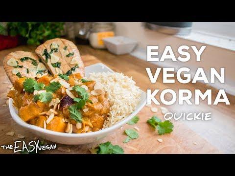 Non-Spicy Vegan Korma Curry I VEGAN QUICKIES