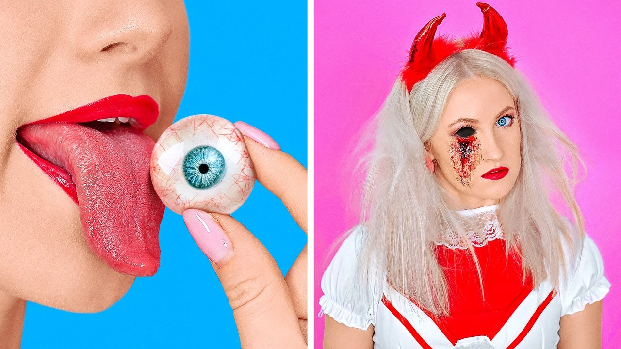 SPOOKY HALLOWEEN DIY IDEAS    Last Minute Halloween Costumes And Crafts by 123 GO!