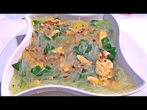 Como hacer Sopa China de Fideos y Pollo / How to make noodles soup