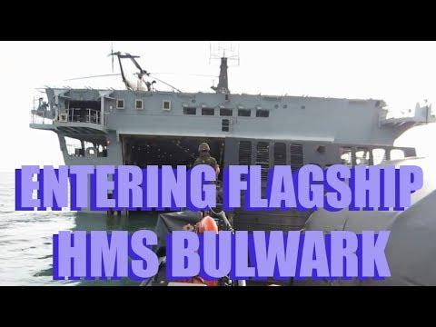 CRHnews   Entering HMS Bulwark Royal Navy Flagship