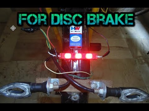 How To Make Brake/Stop Light For DISC or RIM Brakes In A Cycle