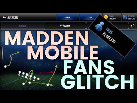 FANS GLITCH!!   Madden Mobile