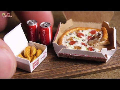 DIY Miniature Pizza, COLA and Potato Wedges   Petit Palm
