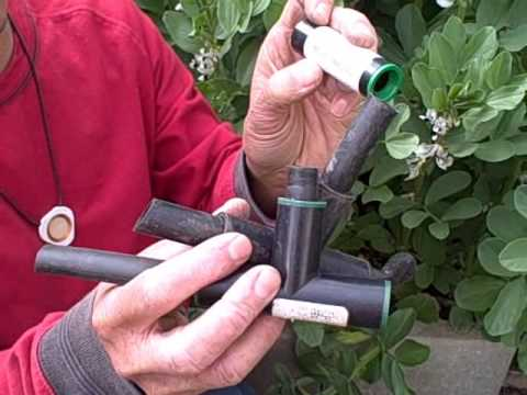 How to convert your existing sprinker system to a drip irrigation for your raised bed garden