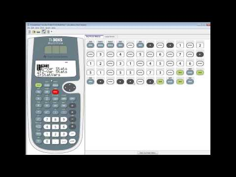 TI-30XS MultiView - Correlation and Regression - Linear Regression Equation