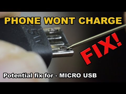 Phone won't charge potential FIX Micro USB