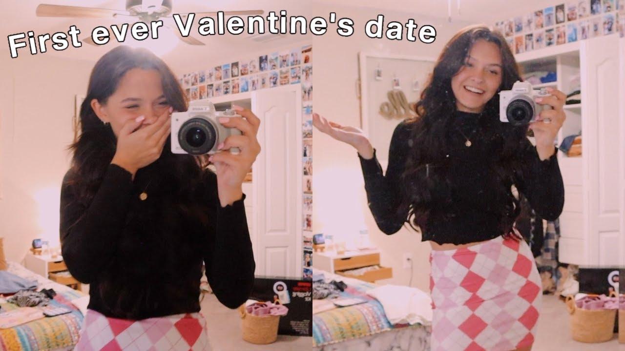 grwm for my first valentine's date