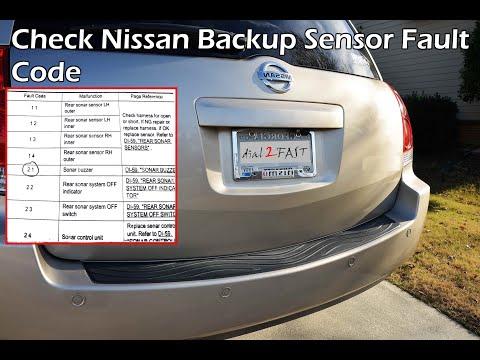 Check Nissan Reverse Backup Sensor Fault Code (2004 - 2009) - PART 1