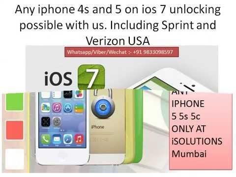 Iphone 5 5s 5c Sprint 7.1 , 7.0 , 7.1.1 unlock in Mumbai India -- +919833098597