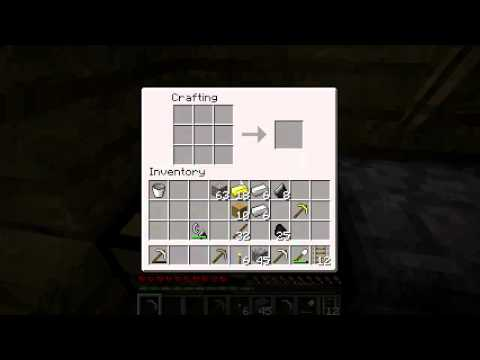 How to make an Iron pickaxe. Minecraft tutorial #4