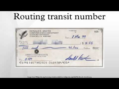 Routing transit number