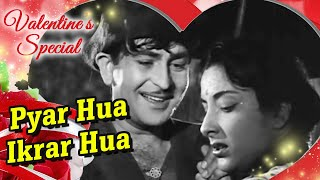 Pyar Hua Ikraar Hua | Raj Kapoor & Nargis | Shree 420 | Bollywood Evergreen Songs | Manna Dey & Lata