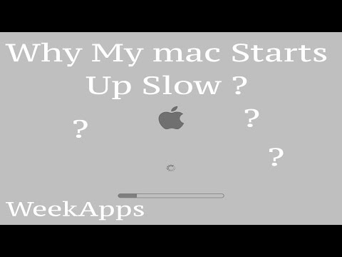 why my mac starts up slow