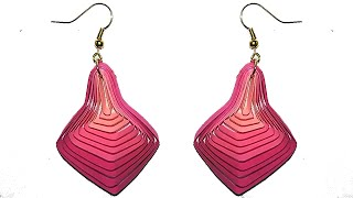 Quilling Earrings New Quilling Paper Earrings Making Tutorial