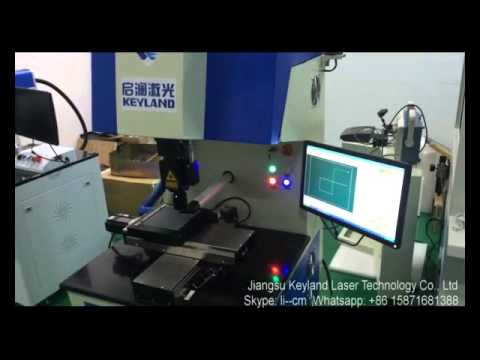 Keyland 2016 solar cell Fiber laser cutting machine (scriber) GSC-20F  demo working