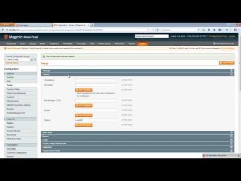 Magento Theme Installation - EM SuperStore Theme Package