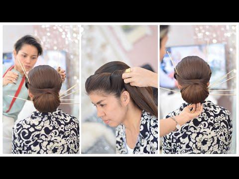 Thai Wedding Hairstyle ทรงผมเจ าสาวช ดไทย พ ธ เช า