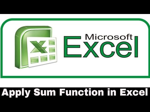 How to Apply Sum Function in Excel - Telugu Tutorials