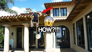 FAN CLIMBS THE FAZE HOUSE LA IN 15 SECONDS...