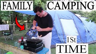 FAMILY CAMPING VLOG   SITE REVIEW   OUTDOOR POOL