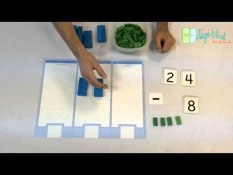 How to Teach Subtraction with Regrouping |  24 - 8