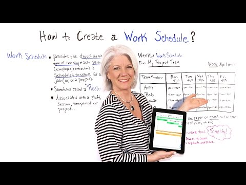 How to Create a Work Schedule - Project Management Training