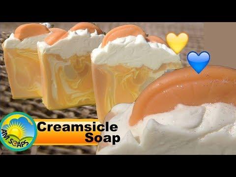 Creamsicle Cold Process Soap