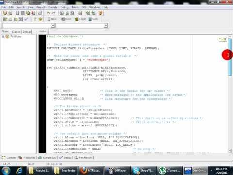 First C Program - Windows Application Message Box