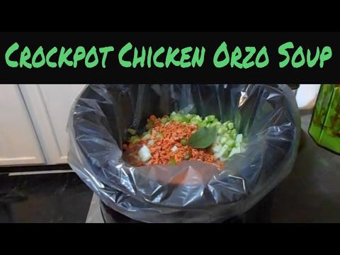 Crockpot Chicken Orzo Soup