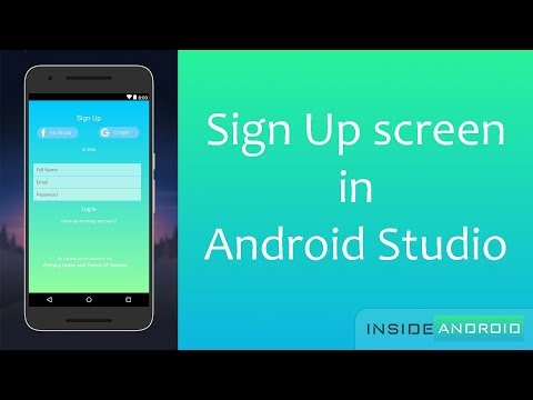 Sign Up screen in Android Studio