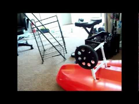 how to make a sit on top kayak cart, under $15.00 dollars.