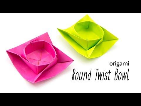 Origami Round Twist Box / Bowl Tutorial · Paper Kawaii